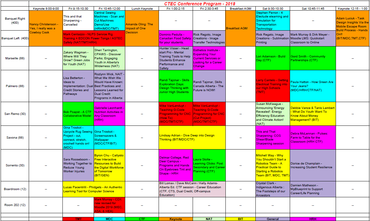 Conference 2018 - Schedule